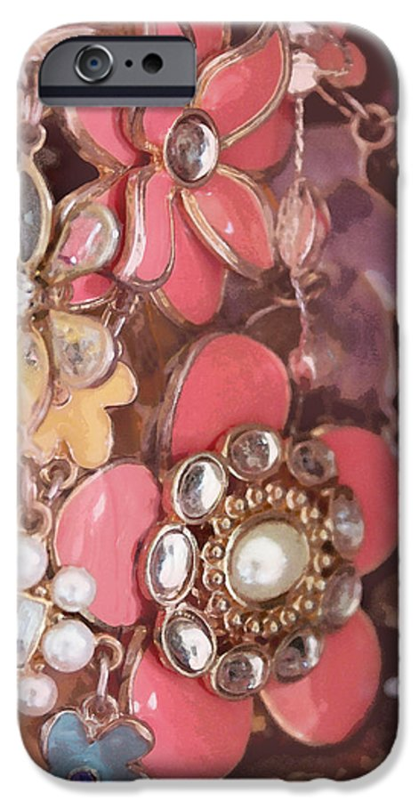 Crystal IPhone 6 Case featuring the photograph Crystal Flowers by Susan Vineyard