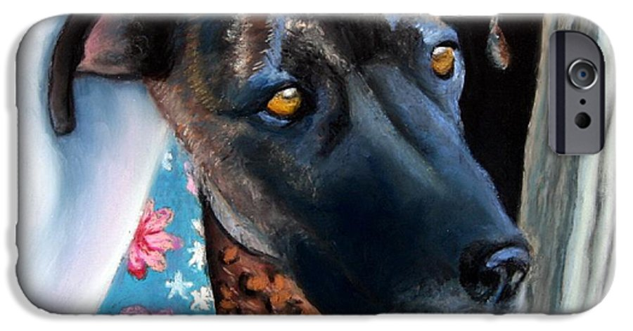 Great Dane IPhone 6 Case featuring the painting Whats Going On? by Minaz Jantz