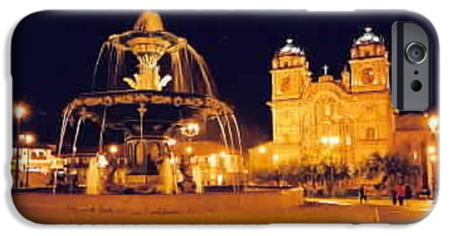 Night IPhone 6 Case featuring the photograph Cusco Peru by Kathy Schumann