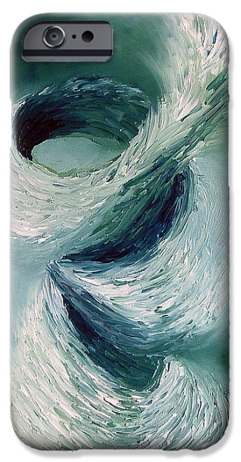 Tornado IPhone 6 Case featuring the painting Cyclone by Elizabeth Lisy Figueroa