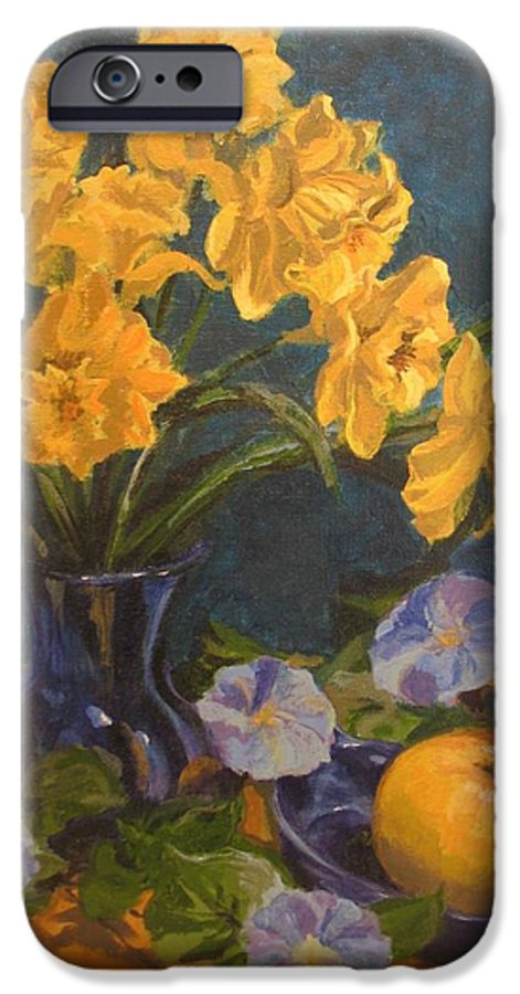 Still Life IPhone 6 Case featuring the painting Daffodils by Karen Ilari