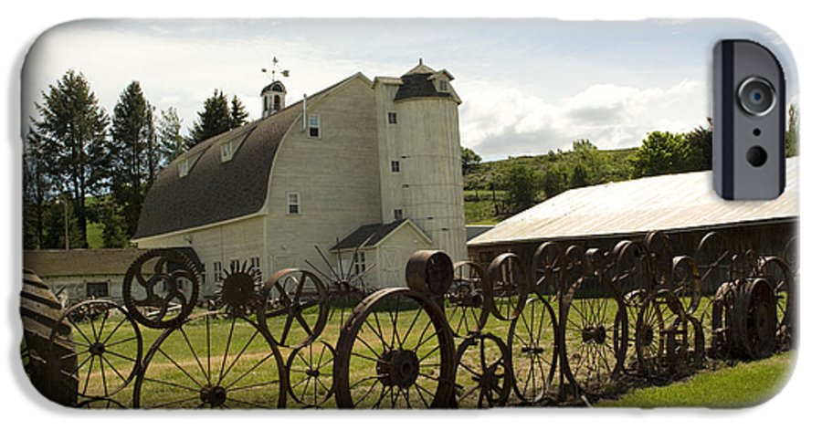 Historic Barn IPhone 6 Case featuring the photograph Dahmen Barn by Louise Magno