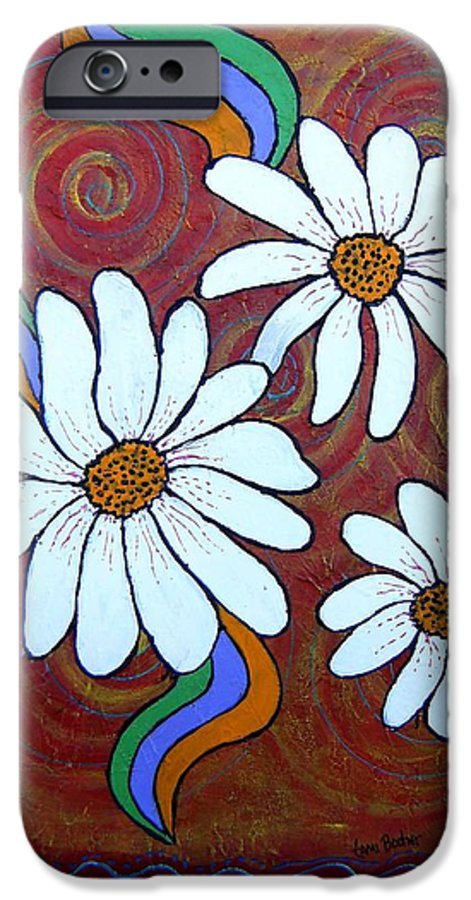 IPhone 6 Case featuring the painting Daisies Gone Wild by Tami Booher