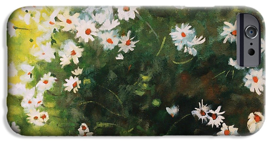 Daisies IPhone 6 Case featuring the painting Daisies by Iliyan Bozhanov