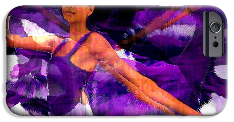 Mystical IPhone 6 Case featuring the digital art Dance Of The Purple Veil by Seth Weaver
