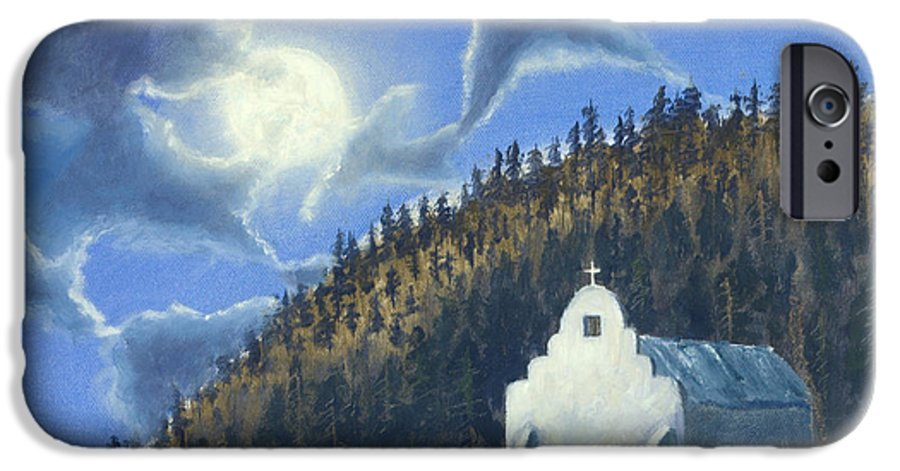 Landscape IPhone 6 Case featuring the painting Dancing In The Moonlight by Jerry McElroy