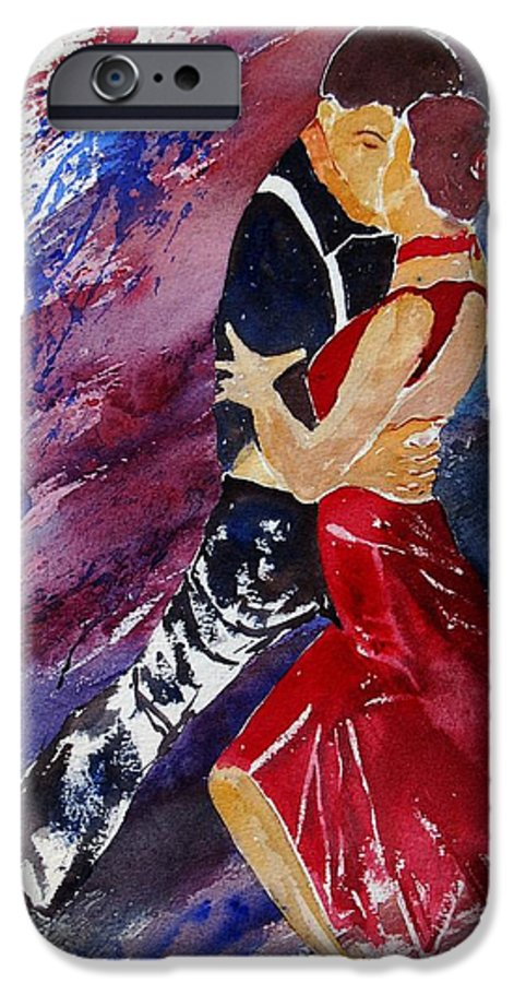 Tango IPhone 6 Case featuring the painting Dancing Tango by Pol Ledent