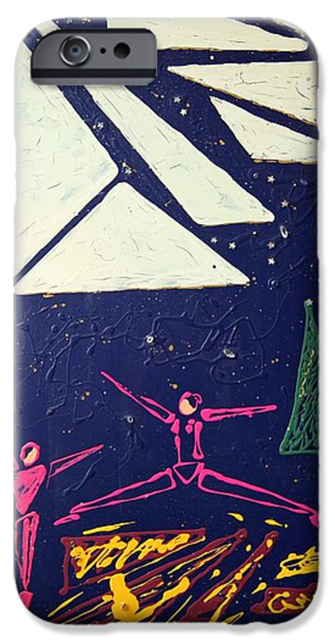 Dancers IPhone 6 Case featuring the mixed media Dancing Under The Starry Skies by J R Seymour