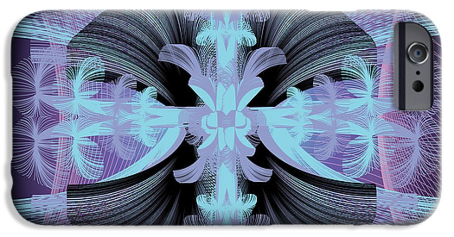Fantasy IPhone 6 Case featuring the digital art Dandilion Puffs by George Pasini