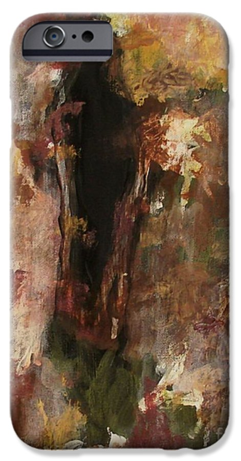 Abstract IPhone 6 Case featuring the painting Dark Presence by Itaya Lightbourne