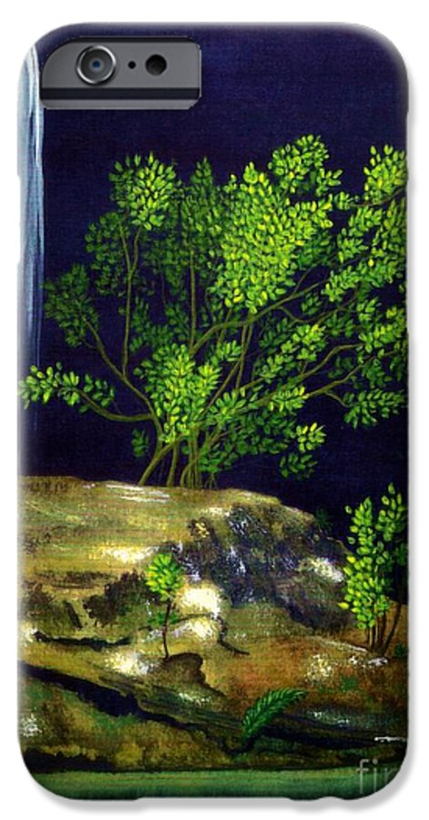 Fine Art IPhone 6 Case featuring the painting Dark Waters by Patricia Griffin Brett
