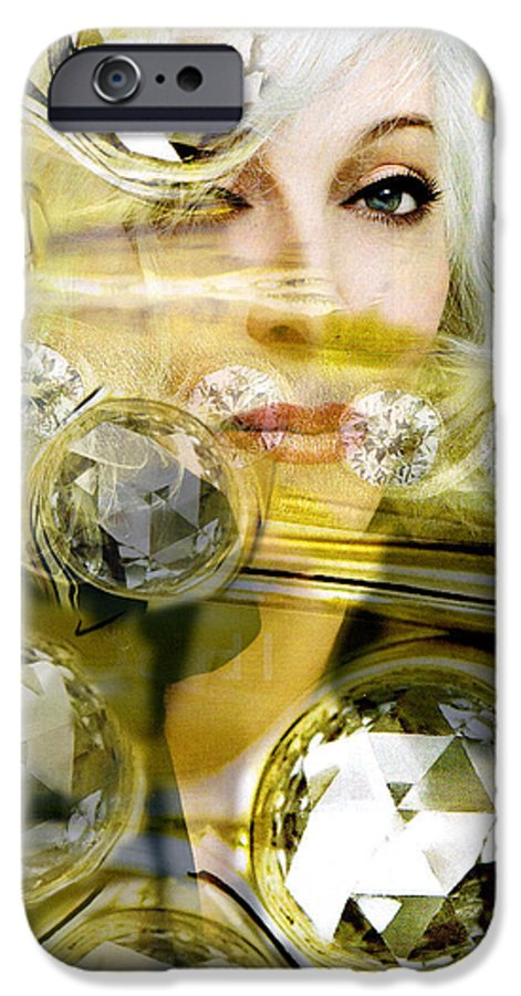 Women IPhone 6 Case featuring the digital art Darling Diamonds by Seth Weaver