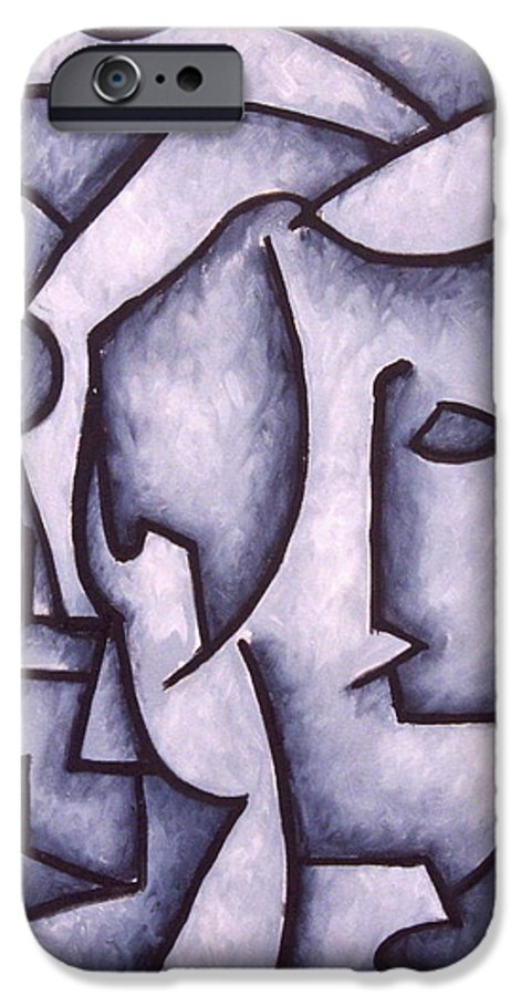 Abstract IPhone 6 Case featuring the painting David by Thomas Valentine