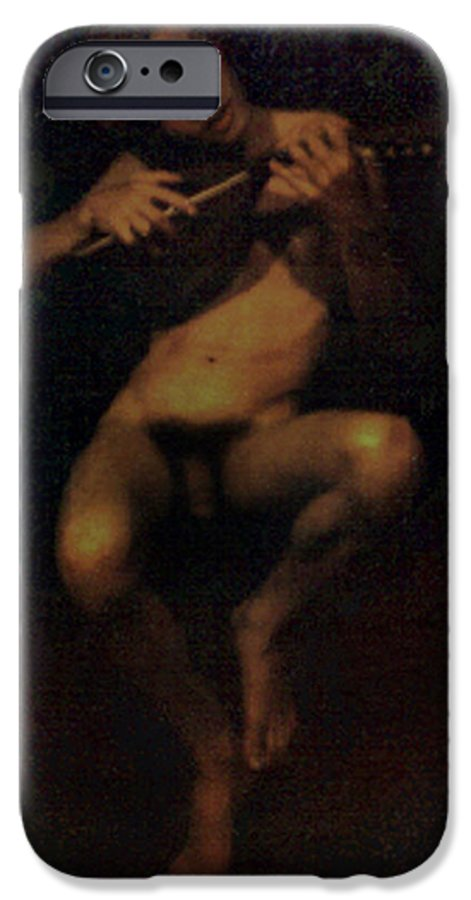 Male IPhone 6 Case featuring the painting David.06 by Terrell Gates