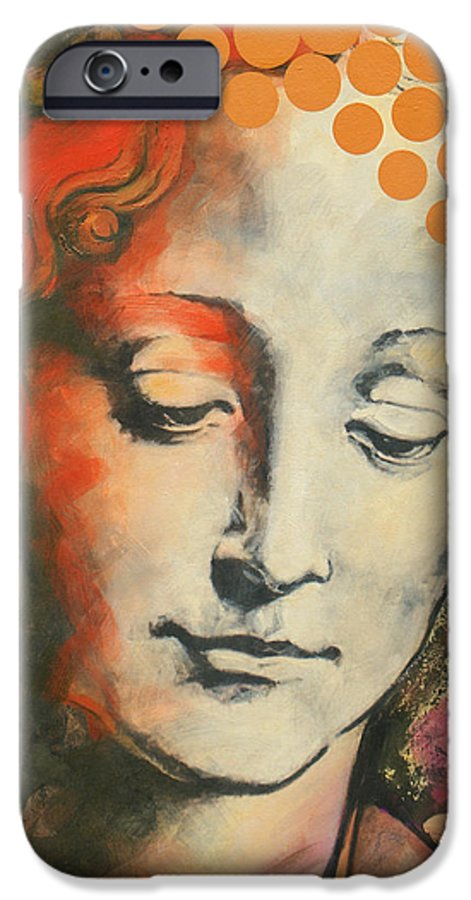 Figurative IPhone 6 Case featuring the painting Davinci's Head by Jean Pierre Rousselet