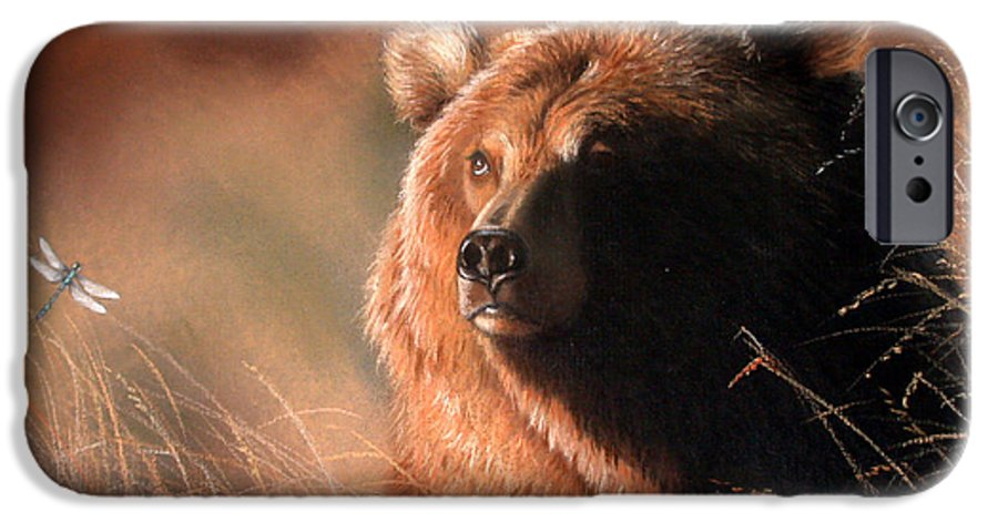 Wildlife IPhone 6 Case featuring the painting Day Dream by Deb Owens-Lowe