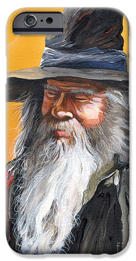 Fantasy Art IPhone 6 Case featuring the painting Daydream Wizard by J W Baker