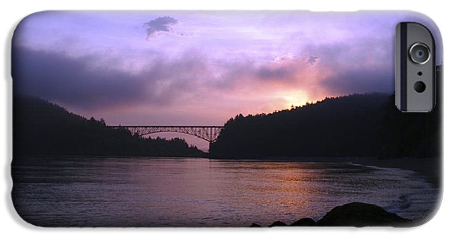 Sunrise IPhone 6 Case featuring the photograph Deception Pass Sunrise by Idaho Scenic Images Linda Lantzy