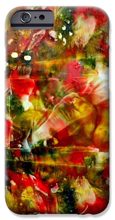 Window IPhone 6 Case featuring the painting Deck The Halls by Susan Kubes