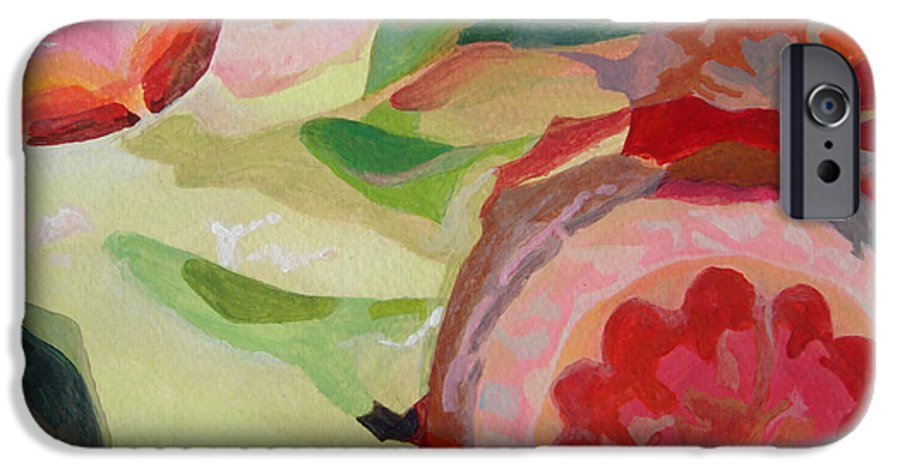 Abstract IPhone 6 Case featuring the painting Decoupage by Muriel Dolemieux
