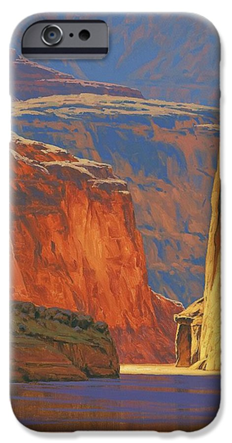 Grand Canyon IPhone 6 Case featuring the painting Deep In The Canyon by Cody DeLong