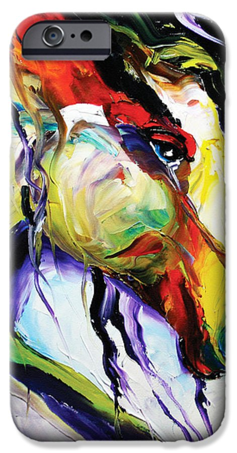 Horse Paintings IPhone 6 Case featuring the painting Deep Memories by Laurie Pace