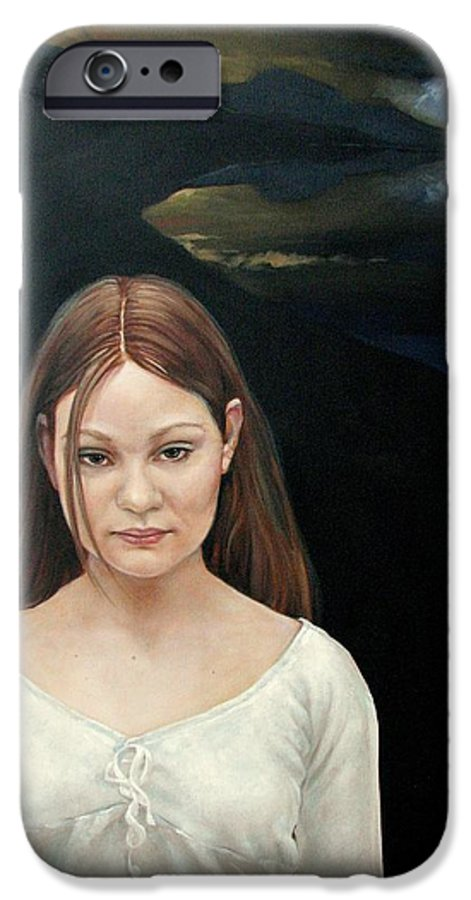 Facial Expressioin IPhone 6 Case featuring the painting Defiant Girl 2004 by Jerrold Carton