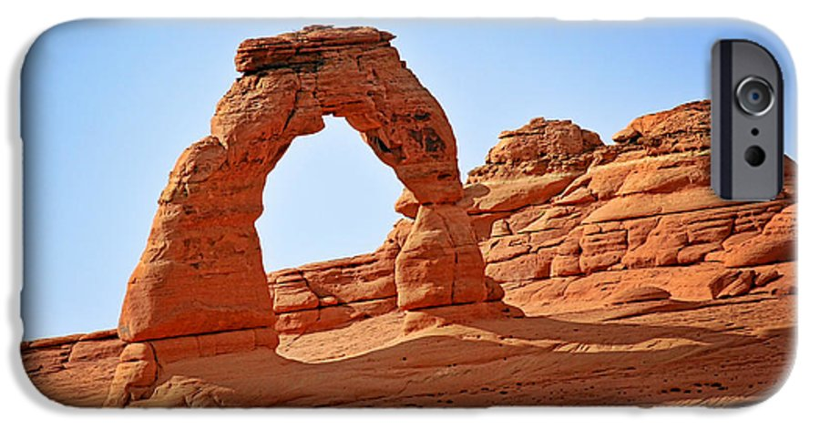 Landscape IPhone 6 Case featuring the photograph Delicate Arch The Arches National Park Utah by Christine Till