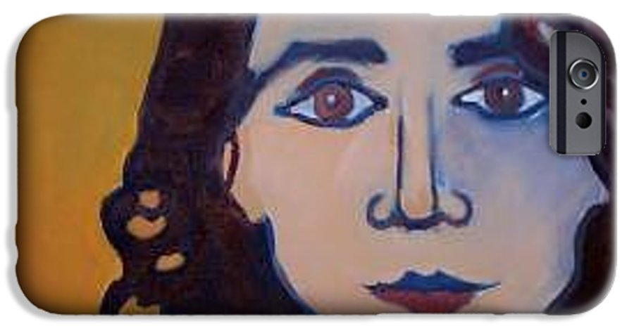 Greek Woman IPhone 6 Case featuring the painting Denise Closeup by Debra Bretton Robinson