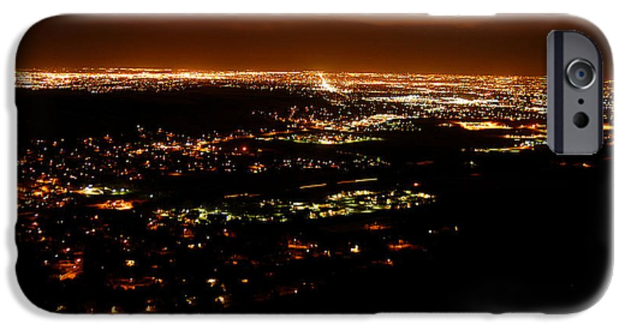 Clay IPhone 6 Case featuring the photograph Denver Area At Night From Lookout Mountain by Clayton Bruster