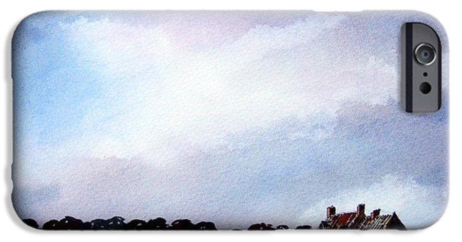 Watercolour IPhone 6 Case featuring the painting Derelict Farmhouse Near Malton by Paul Dene Marlor