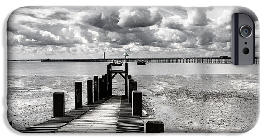 Wharf Southend Essex England Beach Sky IPhone 6 Case featuring the photograph Derelict Wharf by Sheila Smart Fine Art Photography