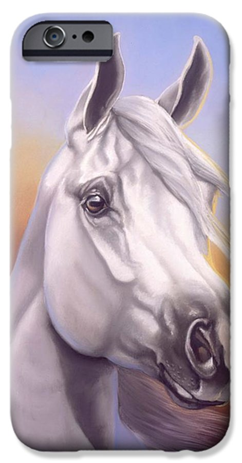Arabian IPhone 6 Case featuring the painting Desert Prince by Howard Dubois