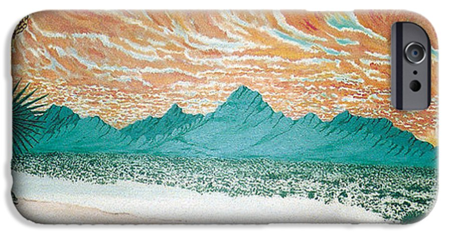Desertscape IPhone 6 Case featuring the painting Desert Splendor by Marco Morales