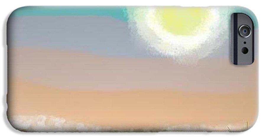 Sky.moon.desert.rest.silence.sand.prickles.moonlight. IPhone 6 Case featuring the digital art Desert.night.moon by Dr Loifer Vladimir
