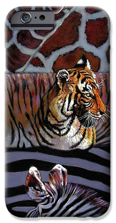 Animals IPhone 6 Case featuring the painting Designs For Defense And Offense by John Lautermilch