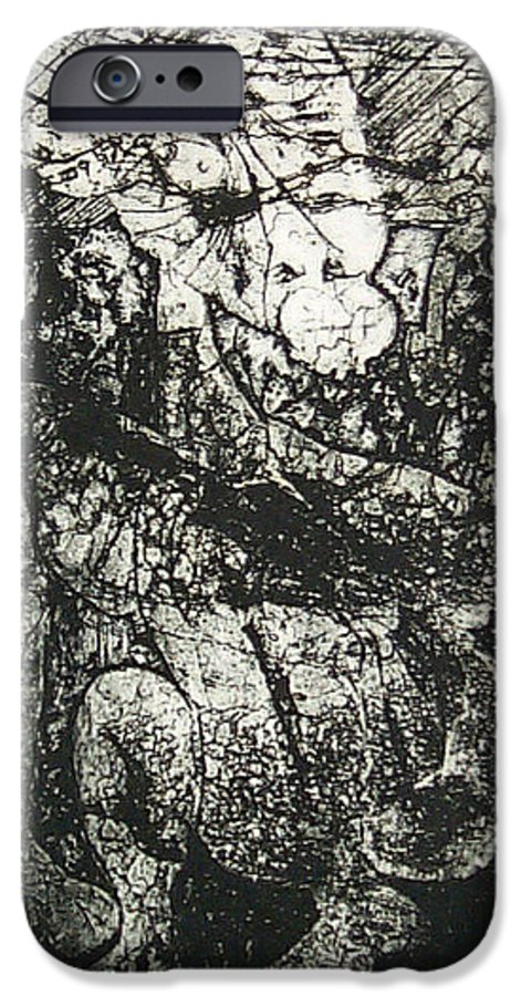 Etching IPhone 6 Case featuring the print Destroy Plate by Thomas Valentine