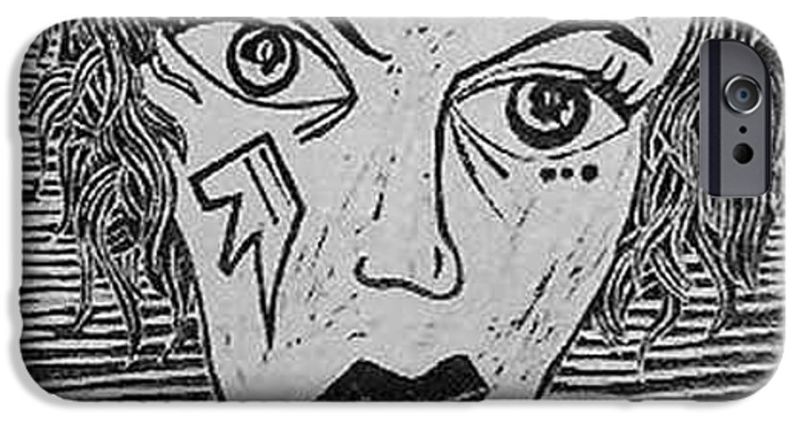 Prints IPhone 6 Case featuring the print Devil Print Two Out Of Five by Thomas Valentine