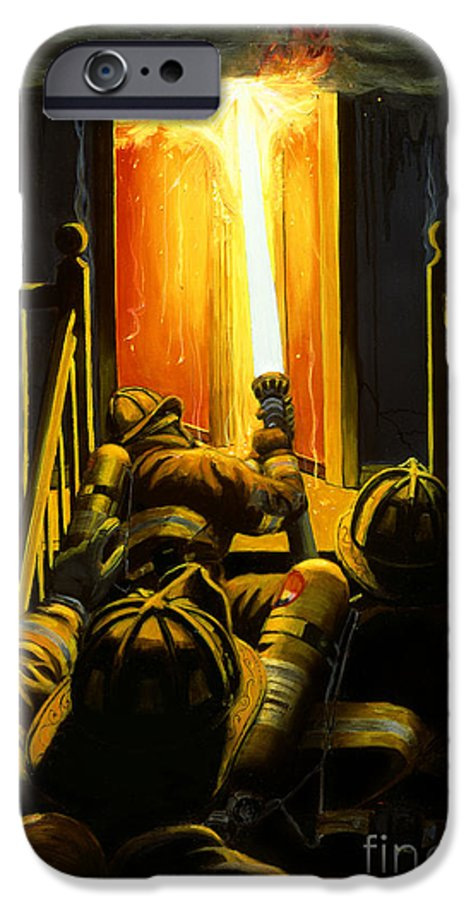 Firefighting IPhone 6 Case featuring the painting Devil's Stairway by Paul Walsh
