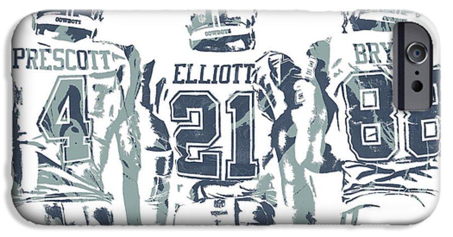 Dez Bryant Ezekiel Elliott Dak Prescott Dallas Cowboys Pixel Art Iphone 6 Case