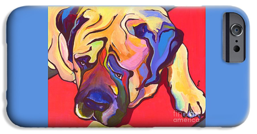 Mastiff IPhone 6 Case featuring the painting Diesel  by Pat Saunders-White