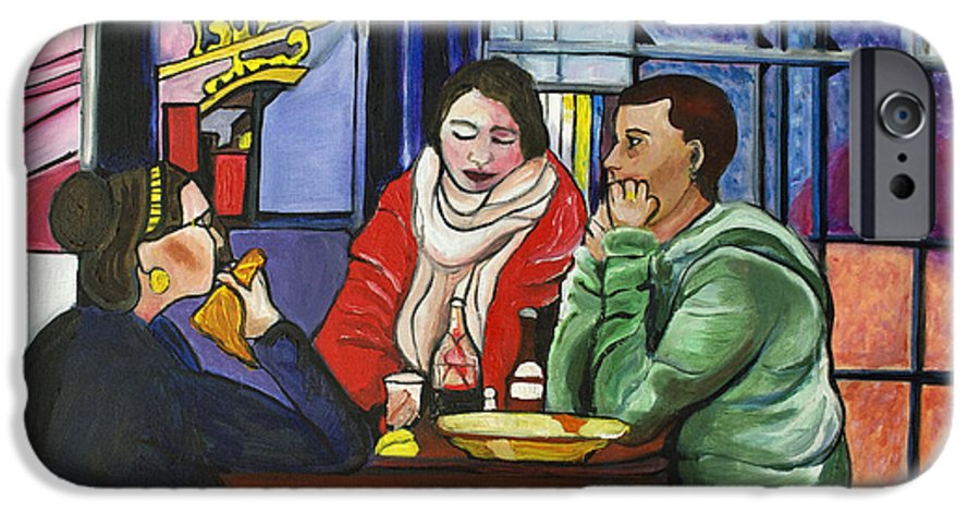 People IPhone 6 Case featuring the painting Dinner In Dam by Patricia Arroyo