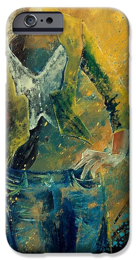 Woman Girl Fashion IPhone 6 Case featuring the painting Dinner Jacket by Pol Ledent