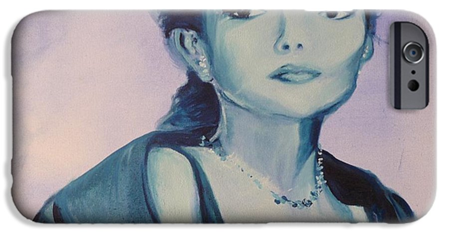 Maria Callas IPhone 6 Case featuring the painting Diva I Maria Callas by Lizzy Forrester