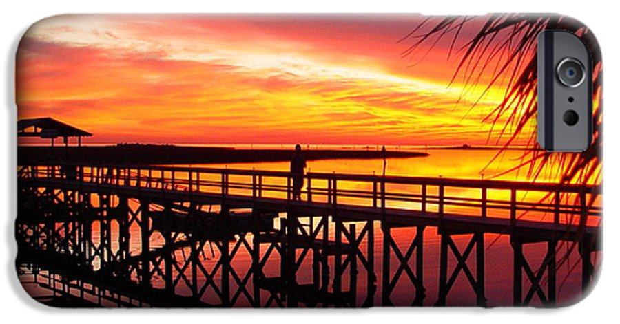 Palms IPhone 6 Case featuring the photograph Docking It by Debbie May