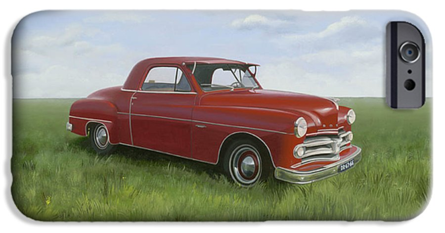 Classic IPhone 6 Case featuring the painting Dodge by Patricia Van Lubeck