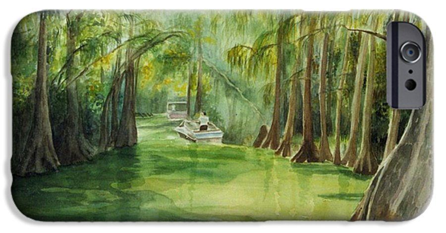 Passage Between Lakes IPhone 6 Case featuring the painting Dora Passage by Judy Swerlick