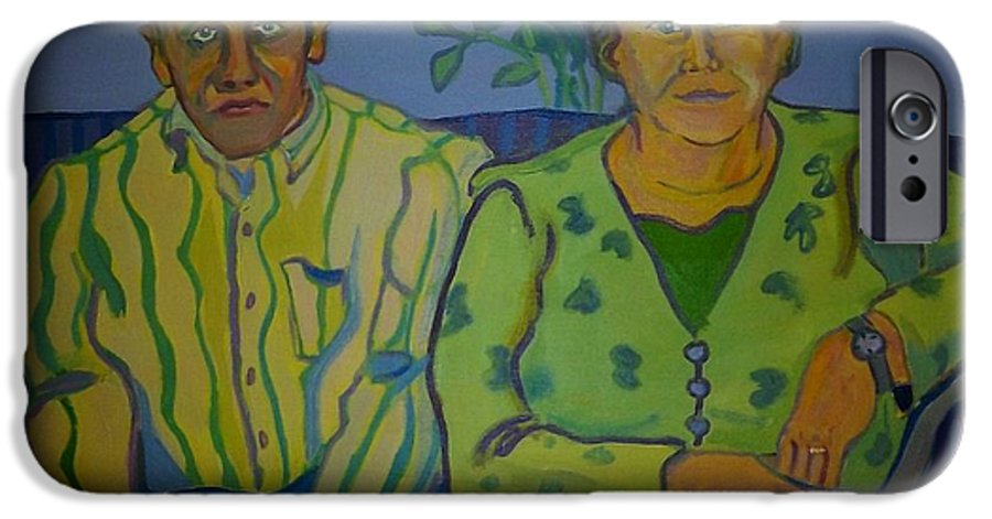 Older Couple IPhone 6 Case featuring the painting Dottie And Jerry by Debra Bretton Robinson