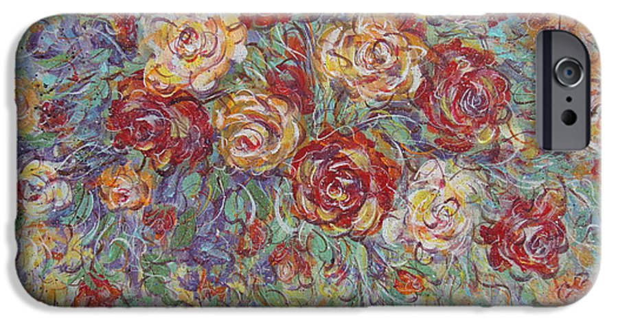 Flowers IPhone 6 Case featuring the painting Double Delight. by Natalie Holland