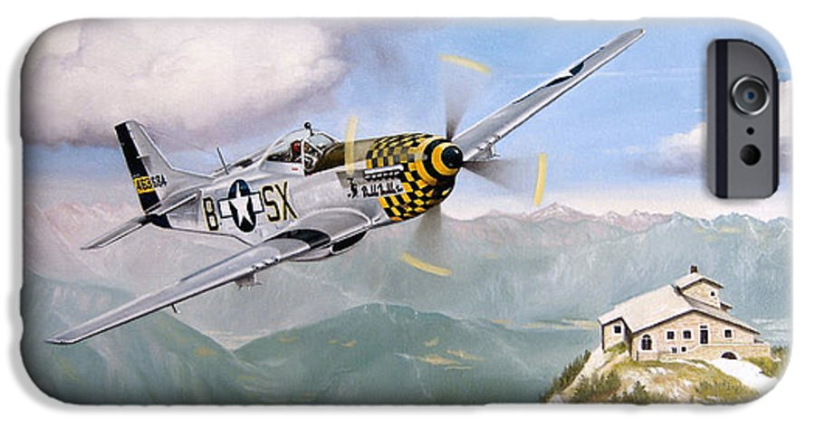 Military IPhone 6 Case featuring the painting Double Trouble Over The Eagle by Marc Stewart